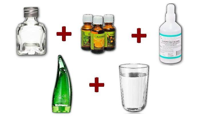 антисептик из водки